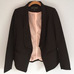 Black Blazer Black Blazer, one button, good condition, more casual then structured! Great for casual offices! Love Culture Jackets & Coats Blazers