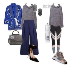 """""""A Grey Marled Cowl Neck & Pouch Pocket Sweater"""" by sheiskellyly on Polyvore featuring TIBI, NIKE, Gianvito Rossi, Victoria's Secret and Witchery"""