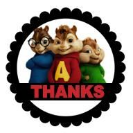 Alvin and the Chipmunks Scalloped Stickers