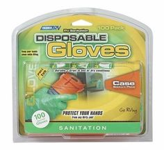 Camco 40285 Disposable Gloves Water Tank Sanitation 50 Pack One Size Latex New…