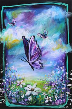 Butterfly for Alzheimer's Awareness Poster by Amy-Beth Rice - X Tribute To Dad, Alzheimers Awareness, Amy, Rice, Butterfly, Art Prints, Acrylics, Artwork, Poster