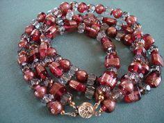 Cranberry Glace'  necklace