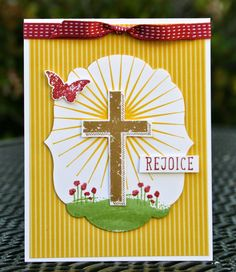 Krystal's Cards: Stampin' Up! Easter Rejoice! #stampinup #krystals_cards #easter #papercrafts #handstamped #cardmaking #rejoice #sendacard #stampsomething #blessedbygod