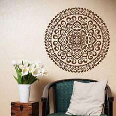 Mandala pared calcomanía Yoga Studio vinilo adhesivo por HomyVinyl