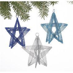 Glitter Wire Stars