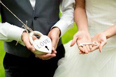 sleutel en slot tot de bruiloften.