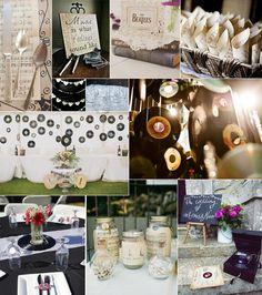 Decoración para bodas inspiradas en la música.  Post sobre bodas musicales en http://losdetallesdetuboda.com/blog