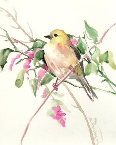 Buy American Goldfinch, Watercolor by Suren Nersisyan on Artfinder. Discover thousands of other original paintings, prints, sculptures and photography from independent artists.