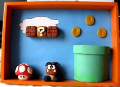 I'm a sucker for super mario bros clay projects.