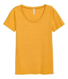 Jersey top | Mustard yellow | Ladies | H&M IL