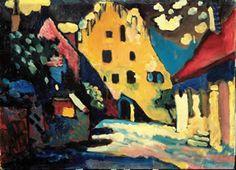 "Kandinsky, ""Murnau Castle Courtyard"""