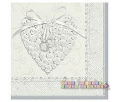 Wedding and Bridal 'With This Ring' Large Napkins (16ct)
