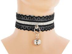 Gray black Kitten play collar, pet play collar, pastel, bdsm collar, ddlg, kawaii, lolita, neko girl, kitten pet play, puppy, submisive 5F