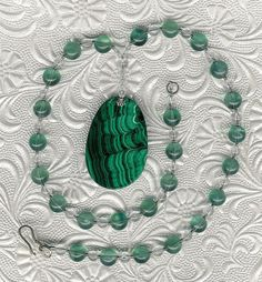 Wearing of the Green  OOAK Malachite Pendant by ChicStatements