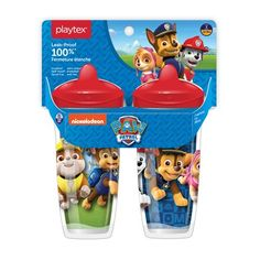 Playtex Sipsters Stage 3 Paw Patrol Spill-Proof, Leak-Proof, Break-Proof Spout Cup for Boys, 9 Ounce - Pack of 2 - Baby Paw Patrol Cups, Lunch Box Containers, Toddler Boy Gifts, Baby Doll Accessories, Cup With Straw, Toddler Learning, Baby Bottles, Baby Care, Have Time