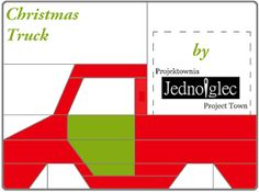 Projektownia Jednoiglec: Christmas truck - block in '12 days of Christmas' Sampler QAL