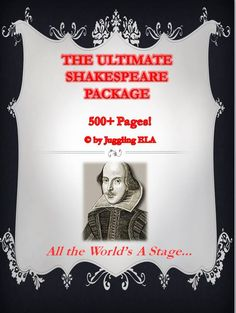 This is a comprehensive package with all of my Shakespeare unit plans. Included are units for Hamlet, Macbeth, Romeo and Juliet, Othello, A Midsummer Night's Dream, Much Ado about Nothing and The Taming of the Shrew. This will be very convenient for teachers who teach multiple grades at the same time. There are over 500 pages of materials in this package.  I've also included background information about Shakespeare and his time-period. Please download the preview.