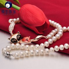 Aliexpress.com : Buy pearl necklace Fine jewelry 7  8mm fascinating  freshwater pearl S925 silver clasp and silver beads YSN022 from Reliable beaded votives suppliers on pearls by yuansheng