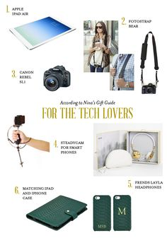 #Holiday gift guide for tech lovers from @Nina Helleny / AccordingToNina. She even features our #BearFotostrap! #leather! http://fotostrap.com/products/bear