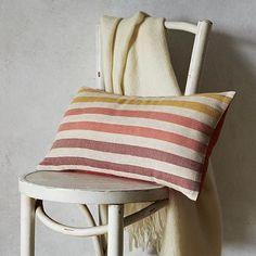 Happy Stripe Pillow Cover #WestElm