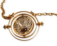 This TIME-TURNER™ is an authentic recreation of Hermione's Time-Turner pendant necklace featured in the movie Harry Potter and the Prisoner of Azkaban.