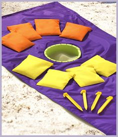 SandHole Beach Game!!!  Plays like cornhole, but made for the beach.  Weighs only one pound!