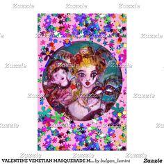 VALENTINE VENETIAN MASQUERADE MASKS by Vulgan Lumini (c) Pink Confetti Stationery #beauty #lovers #carnival #fineart #wedding #mardigras