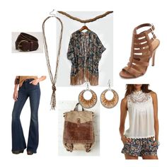 Far out #outfit for the Boho Chic #fashion mission f/a very cool kimono fringe wrap