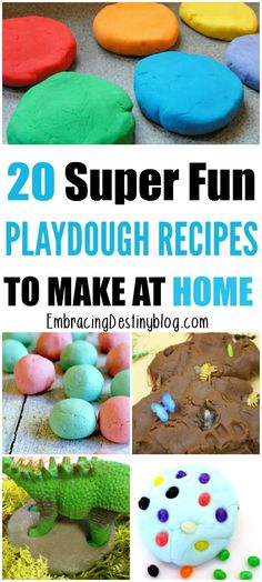 Try these fun and creative homemade play dough recipes to keep the kids busy with hands-on learning! Easy Diy Crafts, Crafts To Do, Diy Crafts For Kids, Craft Ideas, Project Ideas, Diy Projects, Homemade Playdough, Activities For Kids, Childcare Activities