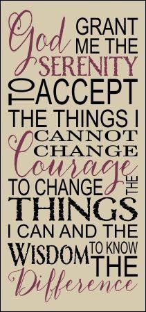 God Grant Me The Serenity Stencil - Prayer & Blessing Stencils