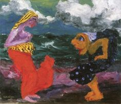 Encounter on the Beach - Emil Nolde - The Athenaeum