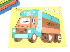 Vintage Playskool Wooden Truck Puzzle by Number2PenSo on Etsy