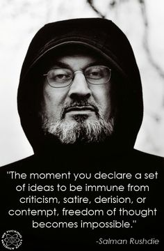 Salman Rushdie Ideas Immunity Quote