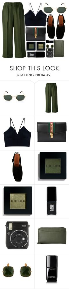 """""""In Green"""" by smartbuyglasses ❤ liked on Polyvore featuring P.A.R.O.S.H., Gucci, by FAR, Bobbi Brown Cosmetics, JINsoon, Fuji, Skagen, Les Néréides, Chanel and black"""