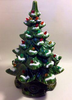 "Vintage 17"" Ceramic Christmas Tree - Lit - Musical ""White Christmas"" by SylviasVintageKitsch on Etsy"