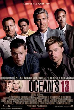OCEAN'S ELEVEN (Un film di Steven Soderbergh. Con George Clooney, Brad Pitt, Matt Damon, Al Pacino, Bennie Mac - USA 2007)