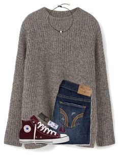 """going shopping✌(again)"" by hgw8503 ❤ liked on Polyvore featuring MANGO, Hollister Co., Converse and Ray-Ban"