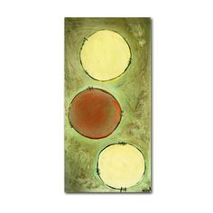 Circle Abstract by Nicole Dietz Painting Print on Wrapped Canvas