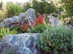 Using boulders in garden design