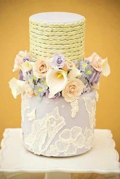 Braids & Flowers Lilac Cake