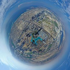 The Greatest Image on Earth- 360° View from the Top of the Tallest Building in the World, Dubai