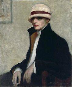 """The Parisienne"" 1924- Agnes Goodsir, Australian painter."