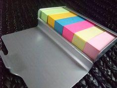 無印良品 アルミカードケース L・約45枚収納を付箋紙ケースとして使う