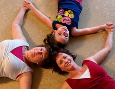 The three generations love yoga