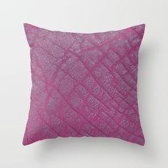 Magenta Elephant Leather Print by Looly Elzayat #pillows #animalprint #livingroomdecor #loolyelzayat #society6 #decorate
