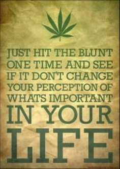 or the pipe, or the bong, or the vap or you could eat a cookie!  .....and all with the exact same outcome!!