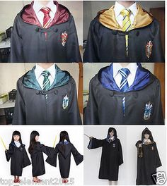 Adult/children harry #potter cloak gryffindor #cosplay costume robe #coat&tie,  View more on the LINK: 	http://www.zeppy.io/product/gb/2/222221078353/