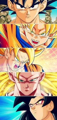 All forms of Goku. The others don't hold a candle to the very first time he went Super Saiyan.
