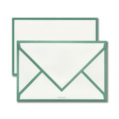 Vera Wang Porcelainberry Border Cards & Envelopes: The perfect match is always admired. Bordered in soft green, this card and envelope are a smart choice for any occasion.