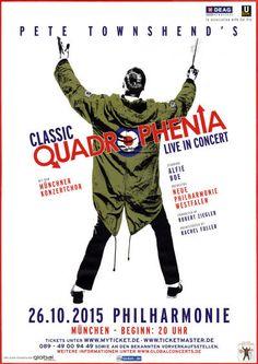 Pete Townshend - Classic Quadrophenia - October 26, 2015 - Munich, Germany (Venue Poster)